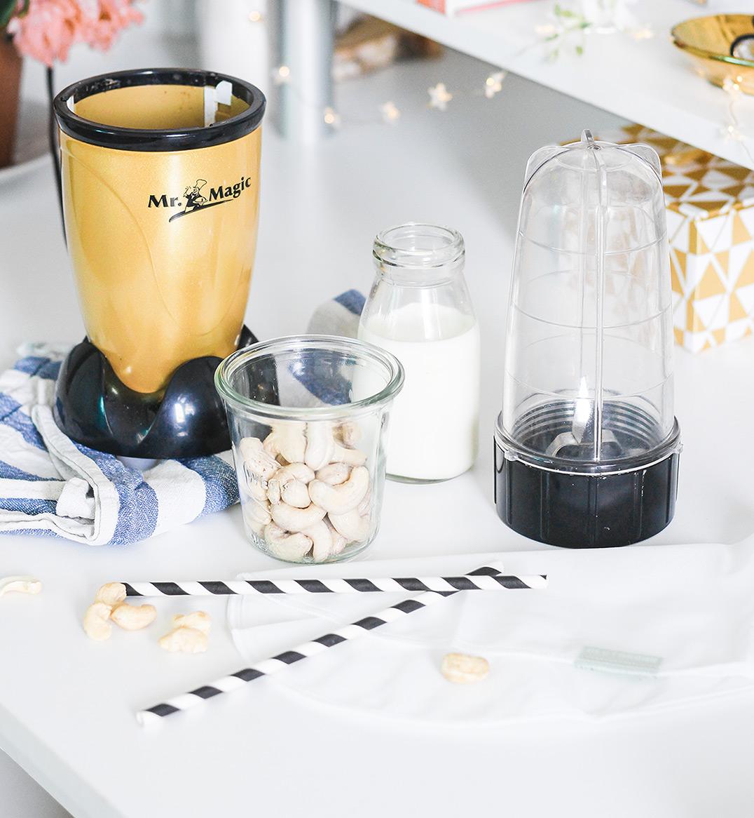Pflanzliche Milch ohne Gerät selber machen