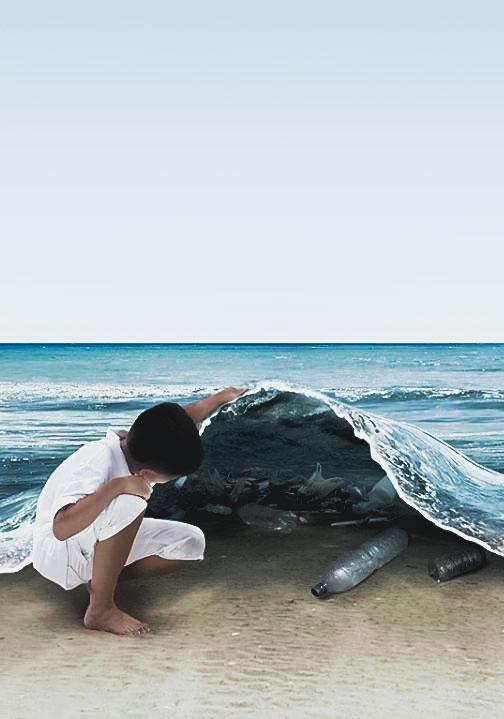 Mikroplastik - Verschmutzung Weltmeere- Plastik