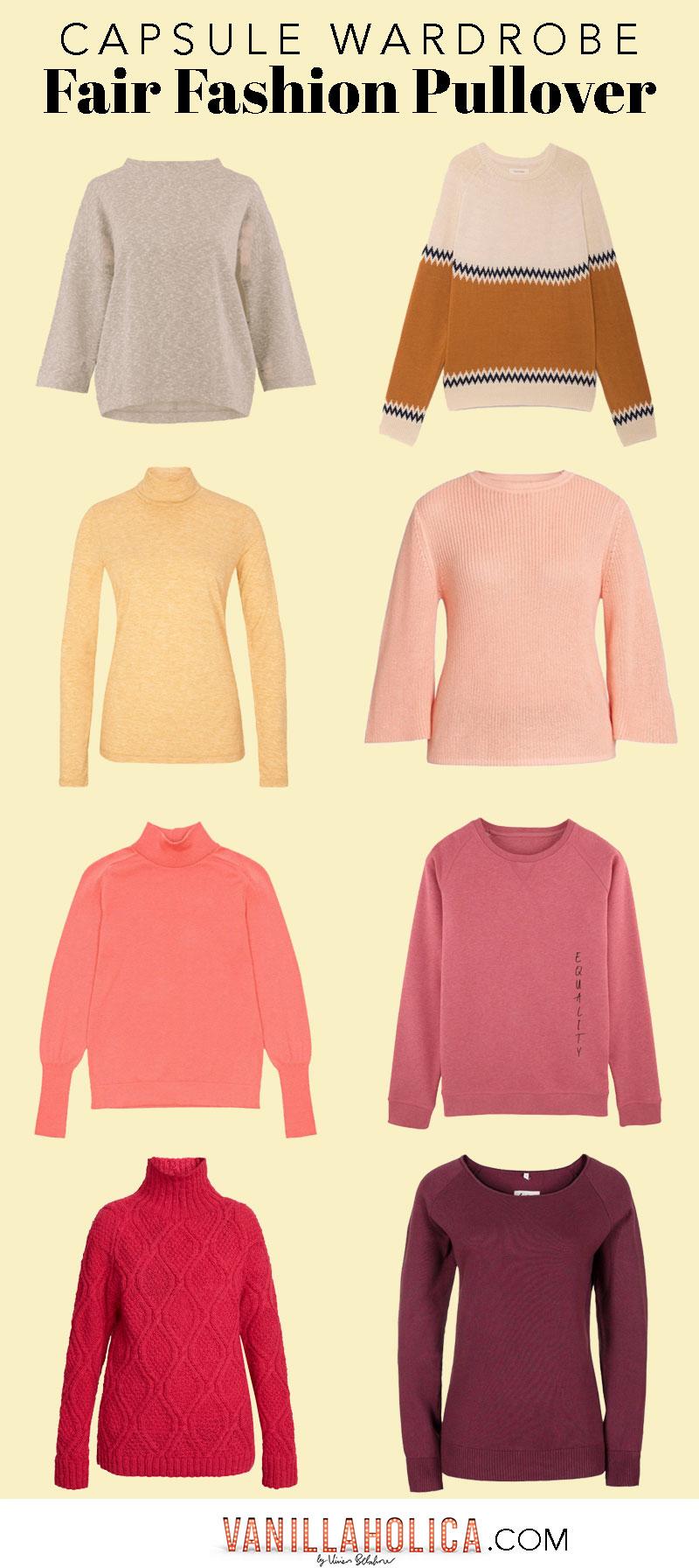 5156e465e4bceb Minimalistischer Kleiderschrank    Basic Fair Fashion Pullover